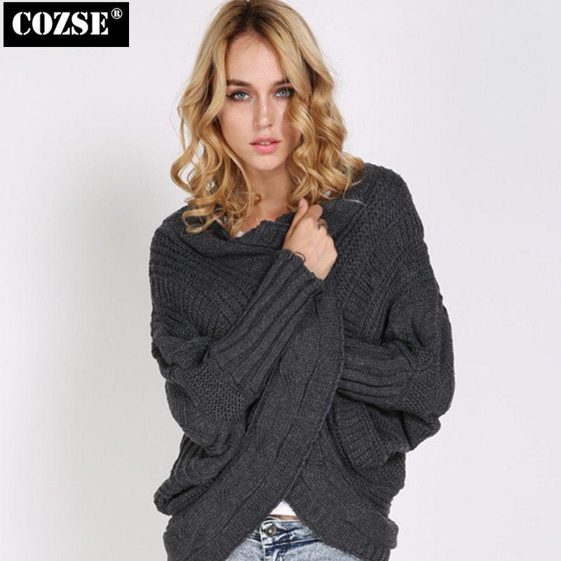 New 2015 European Autumn Irregular Knitting Women Sweater Loose The Shawl Sweater Women Free Shipping H8479