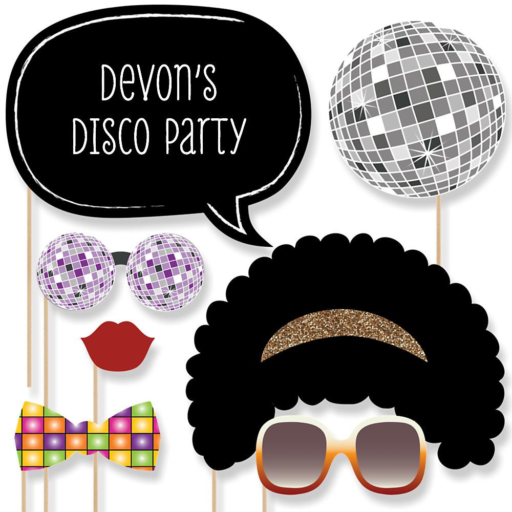 Paper Card Stock 1970s Disco Fever Party Photo Booth Props Kit 10 Count Big Dot of Happiness 70s Disco Glasses
