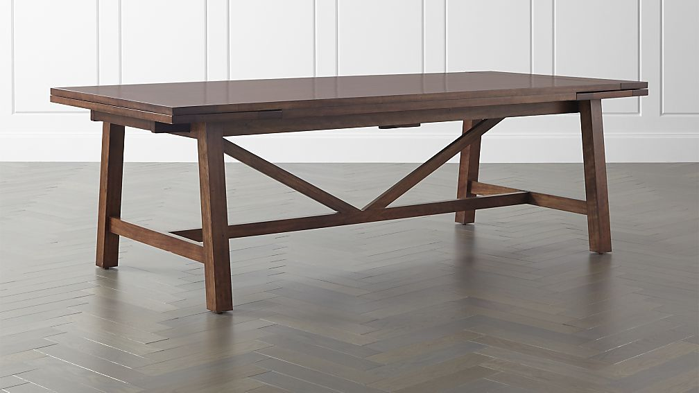 Dakota 77 Dining Table In Dining Tables Crate And Barrel Dining Table With Bench Dining Room Table Dining Table In Kitchen