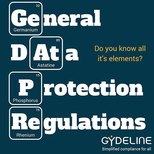 The Elements Of Gdpr Chemistry Compliance Businesstools Gdpr Gdpralternative