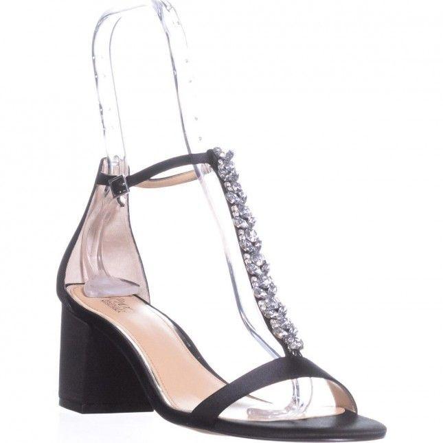 f1f502da175 Jewel Badgley Mischka Lindsey Block Heel Sandals