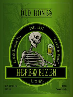 Undead Brewing Company Beer labels