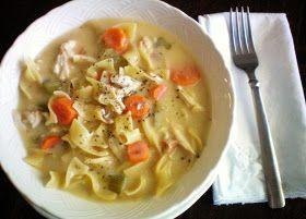 Craft-O-Maniac: {Crock Pot Creamy Chicken Noodle Soup}