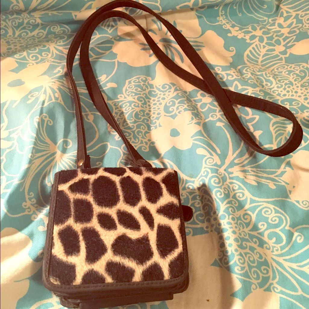 Animal Print And Black Cross Body