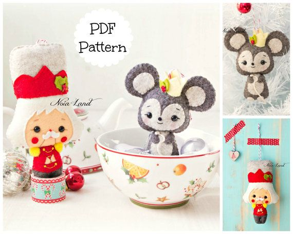 PDF Pattern. The Nutcracker and The Mouse King | felt doll ...