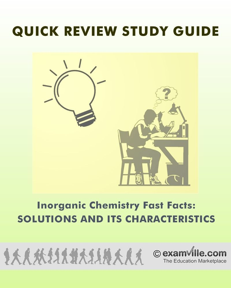 Inorganic Chemistry Fast Facts: Solutions | Chemistry and Study notes