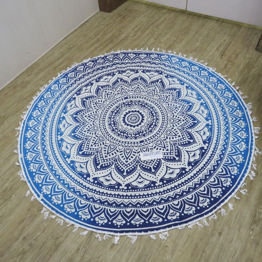 Wholesale Hippie Round Mandala Roundie Beach Towels Aztec