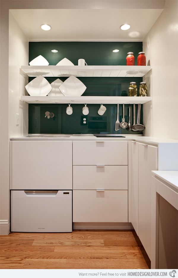 A Collection of 18 White Kitchen Cabinet