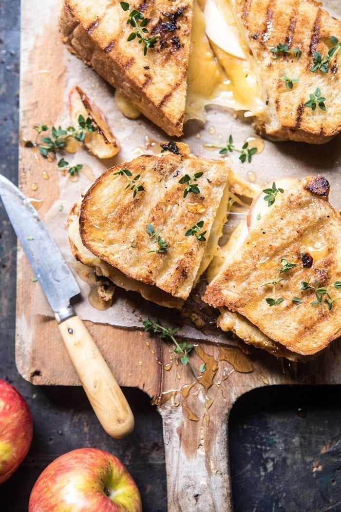 Honey Apple Cheddar and Bacon Panini #sandwichrecipes