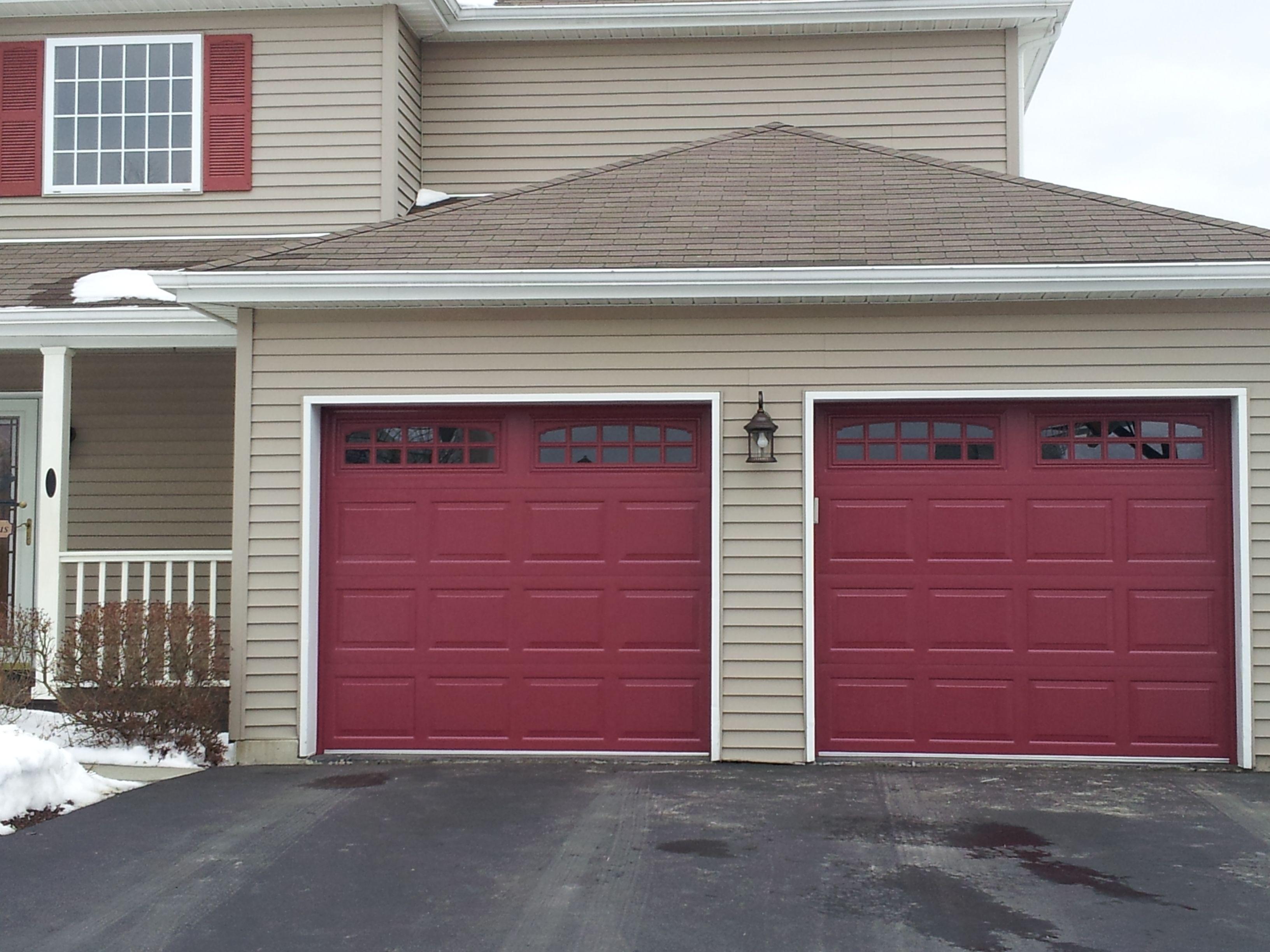 Raynor Opticolor Garage Door Colors Red Garage Door Garage Doors