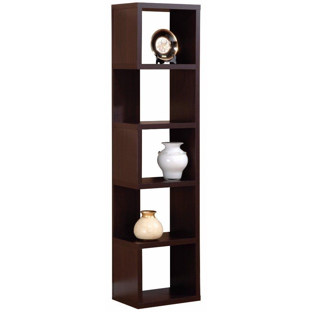 benzara elegant corner display unit with five shelves brown rh pinterest com