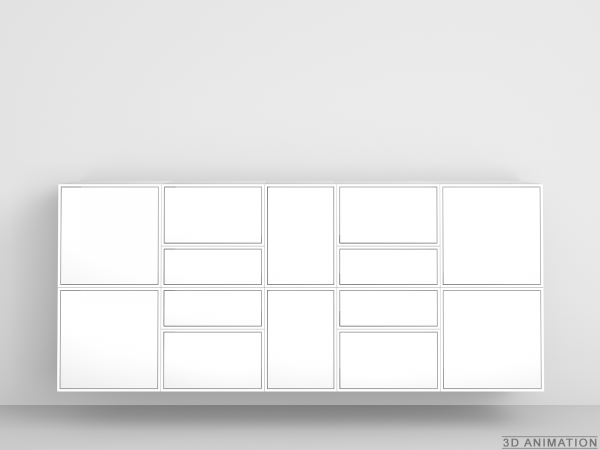 Design Shelf Closed Sideboard In White Regal Design Sideboard Regal