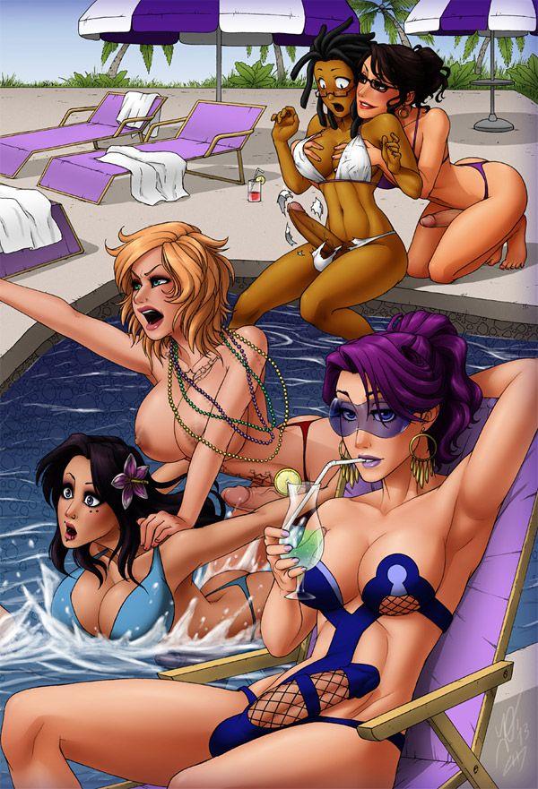 shower porn cartoon