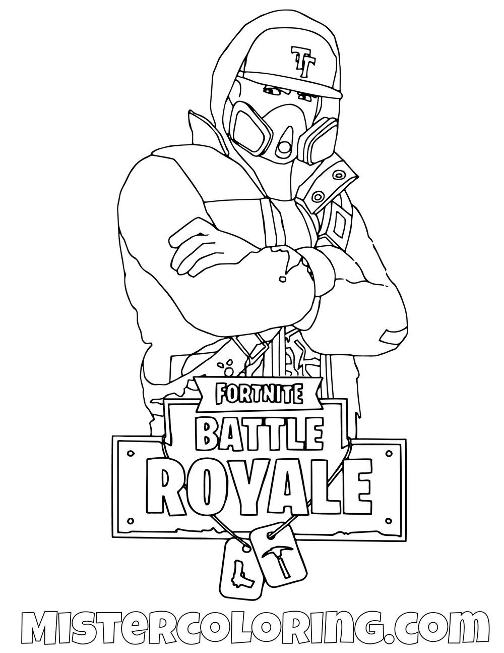 Free Black Knight Posing Skin Fortnite Coloring Page For Kids