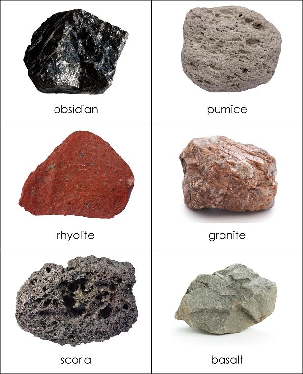 Types of Rocks Sorting Cards from Montessori for Everyone MATERIAL