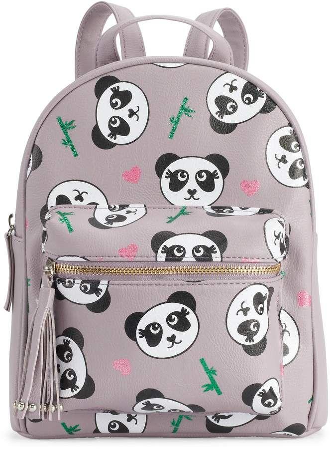 5b49de4f3c7 OMG Accessories Glitter Panda Mini Backpack in 2019 | Girls | Mini ...