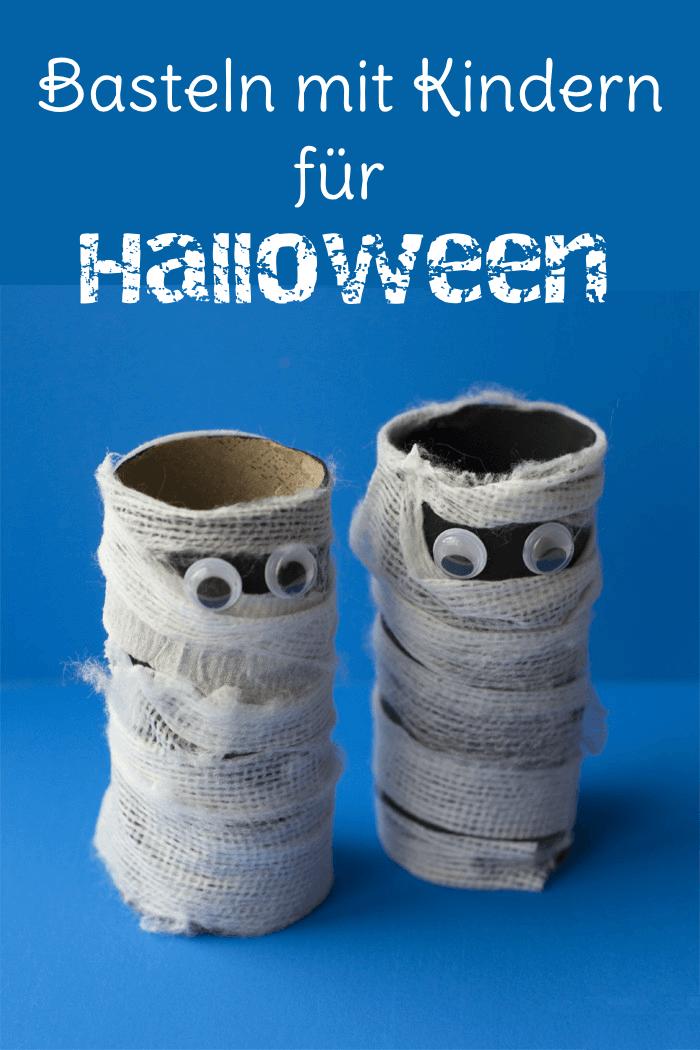 Halloween Basteln mit Kindern: DIY Ideen mit Toilettenpapierrolle #créationsdhalloween