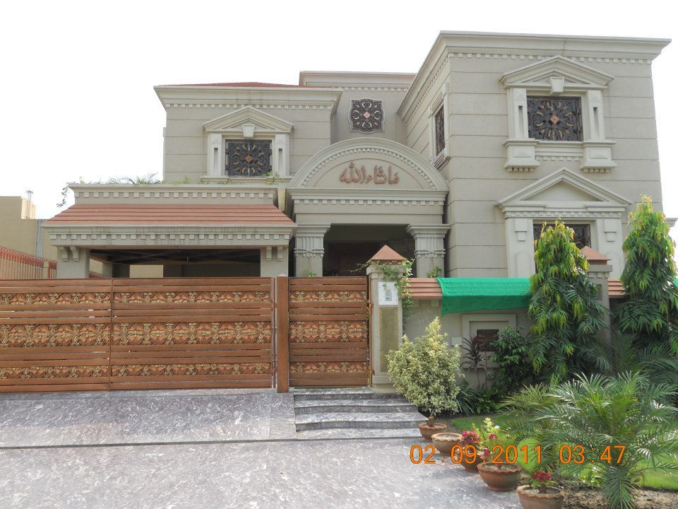 Front Elevation Of Houses In Dha Lahore : Kanal house dha lahore phase v ideas for the