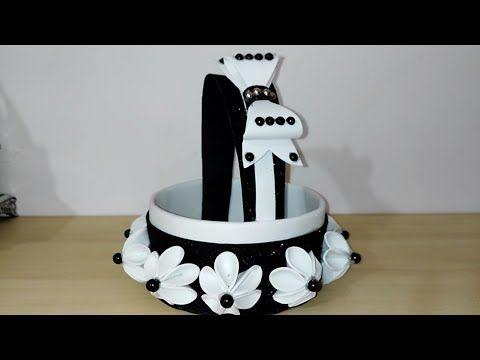 عمل فني بورق الفوم اعمال يدوية بورق الفوم Cestino In Gomma Eva Youtube Foam Crafts Crafts For Kids Crafts