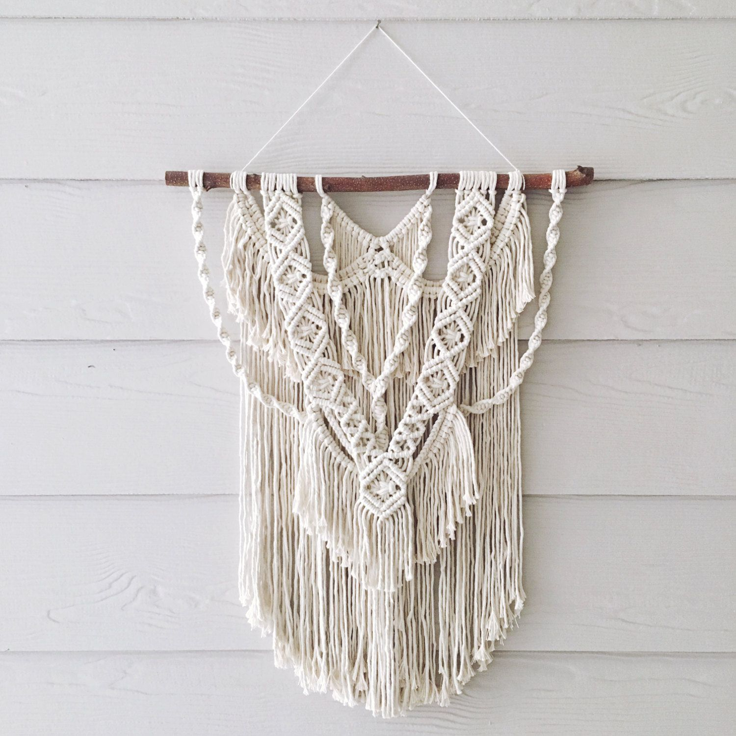 Wall Hangings Etsy wild at heart medium macrame wall hangingwovenwhale on etsy