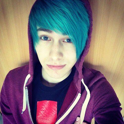 Emo Boy Blue Hair Cute Emo Guys Hot Emo Guys Boys Blue Hair