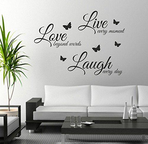 live laugh love wall art sticker quote wall decor wall decal words rh pinterest com