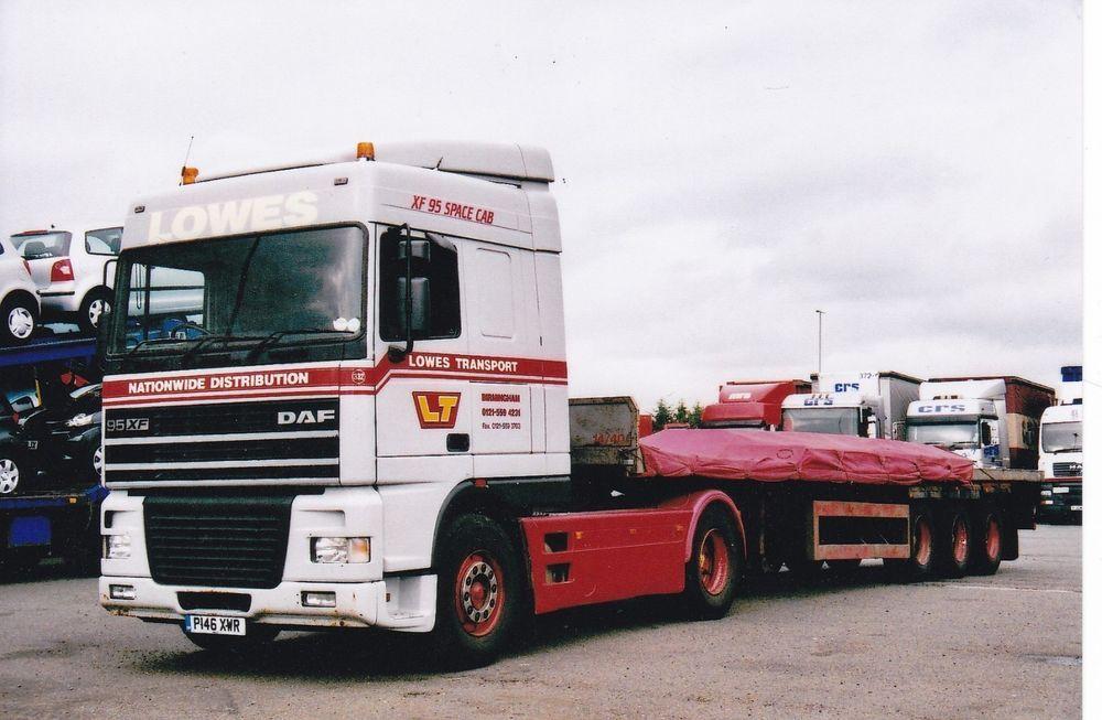 Col Photo Lowes Transport Birmingham Daf 95 Artic Flat Trailer P146 Xwr Notlicable