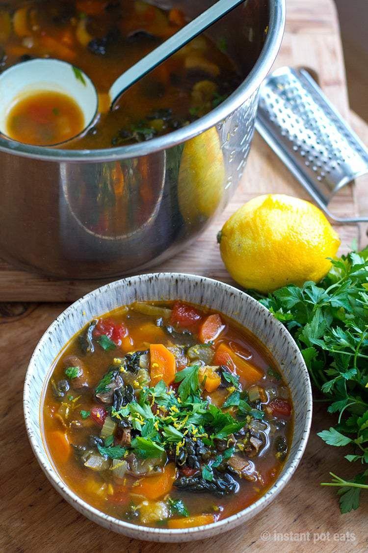 Instant Pot Vegetable Soup Italian Farmhouse Instant Pot Eats Recipe Instant Pot Soup Recipes Soup Recipes Pot Recipes