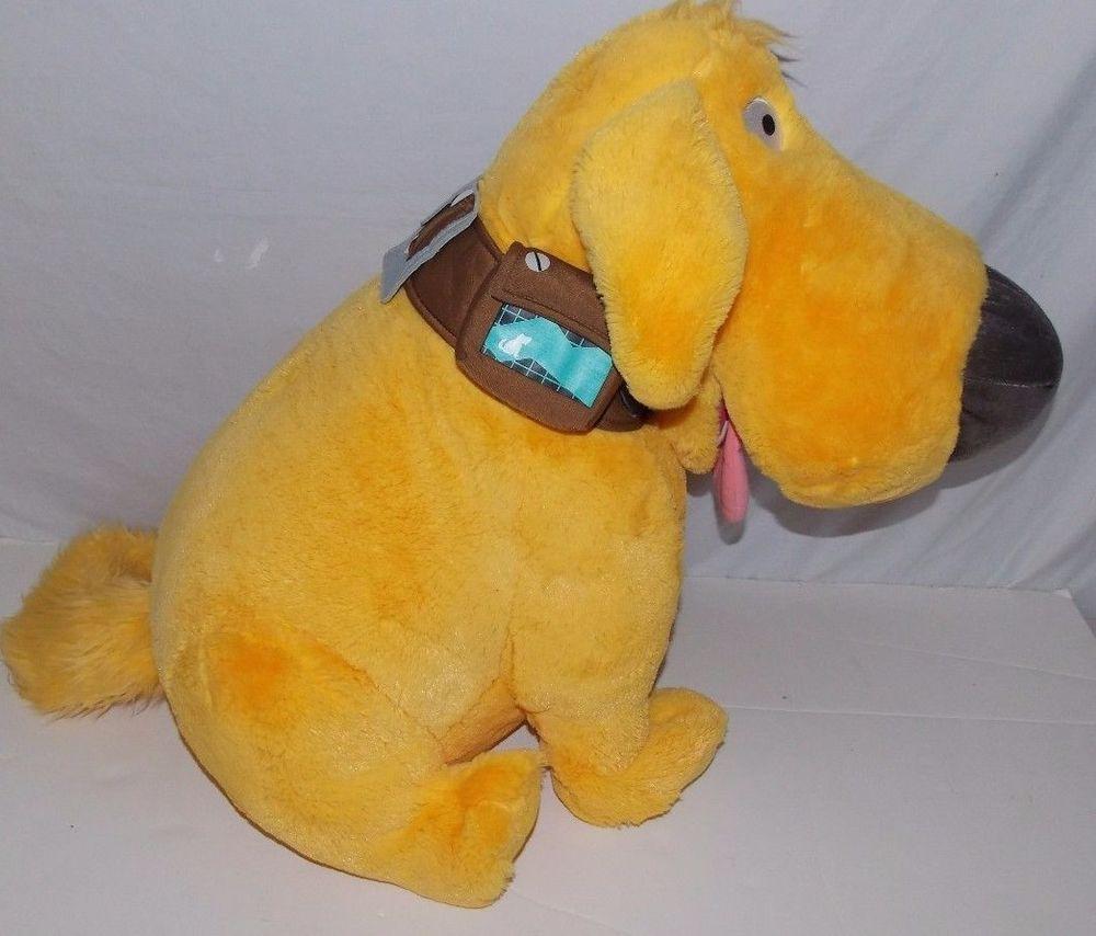 Disney Store Dug UP Movie Large Sitting Dog Plush Stuffed Animal  #DisneyStore
