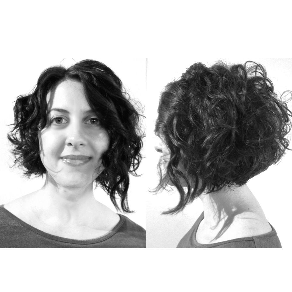 Melissa curly asymmetrical bob short curly asymmetrical bobs