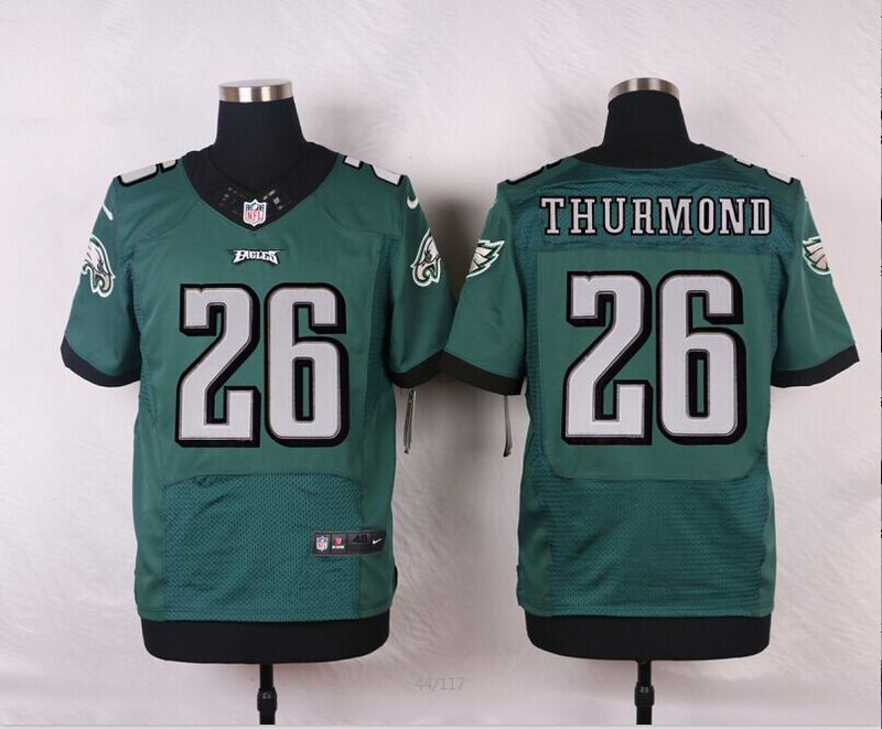 3a1ab90556f Men's NFL Philadelphia Eagles #26 Walter Thurmond Green Elite Jersey ...