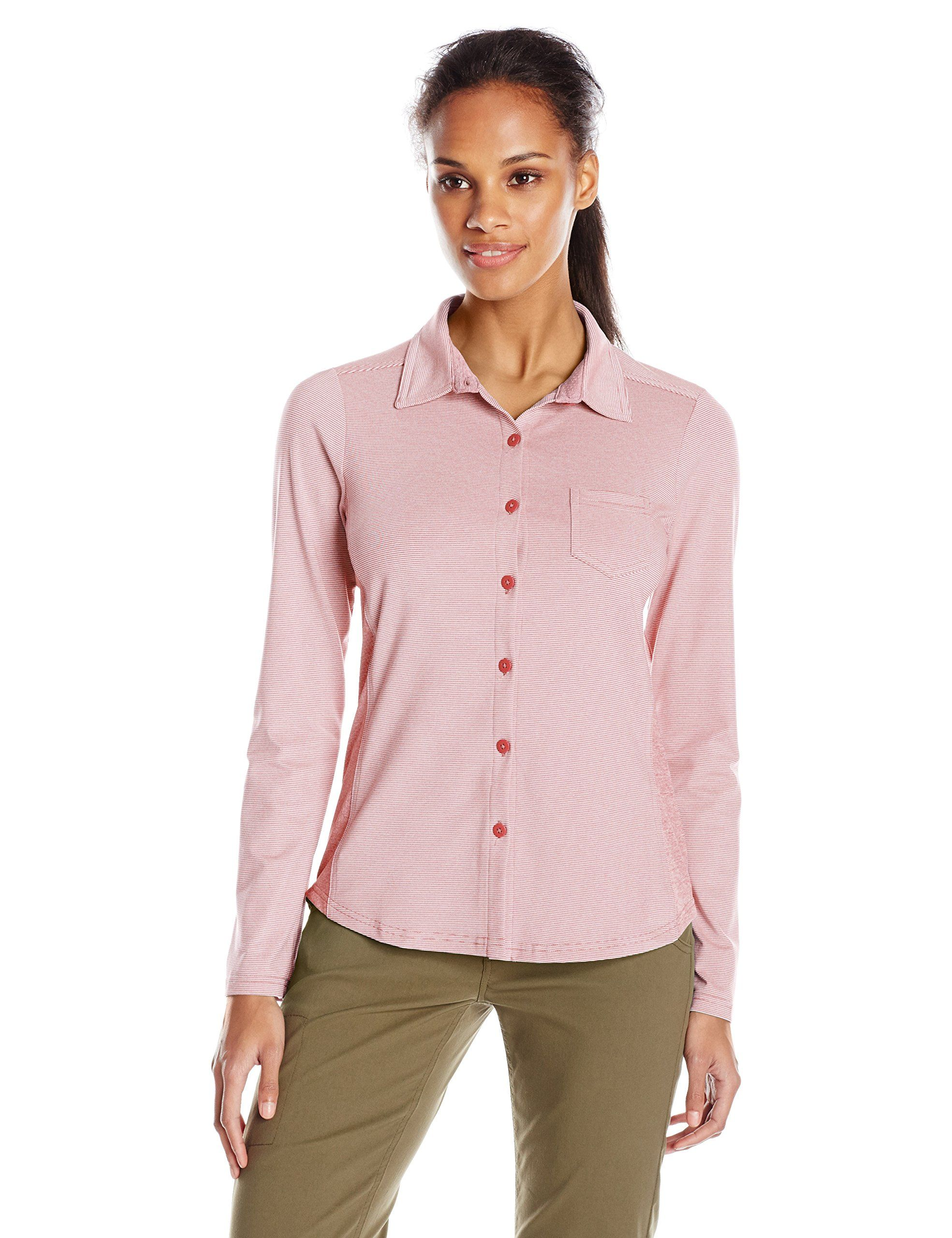 Very Button Detail Shell Top - Red, Women