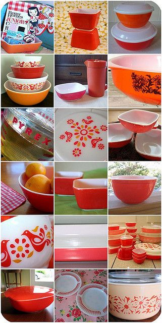 Red | Pyrex, Vintage pyrex and Collection