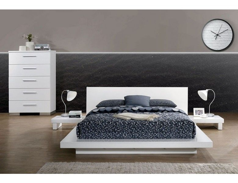 Shiro Panel Low Profile Bed Platform Bed Frame King Size