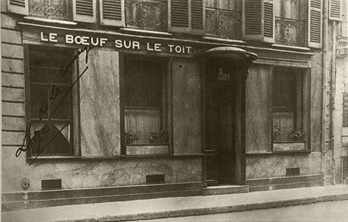 the infamous le boeuf sur le toit 1920 39 s jazz bar in paris 1920s paris haute couture. Black Bedroom Furniture Sets. Home Design Ideas