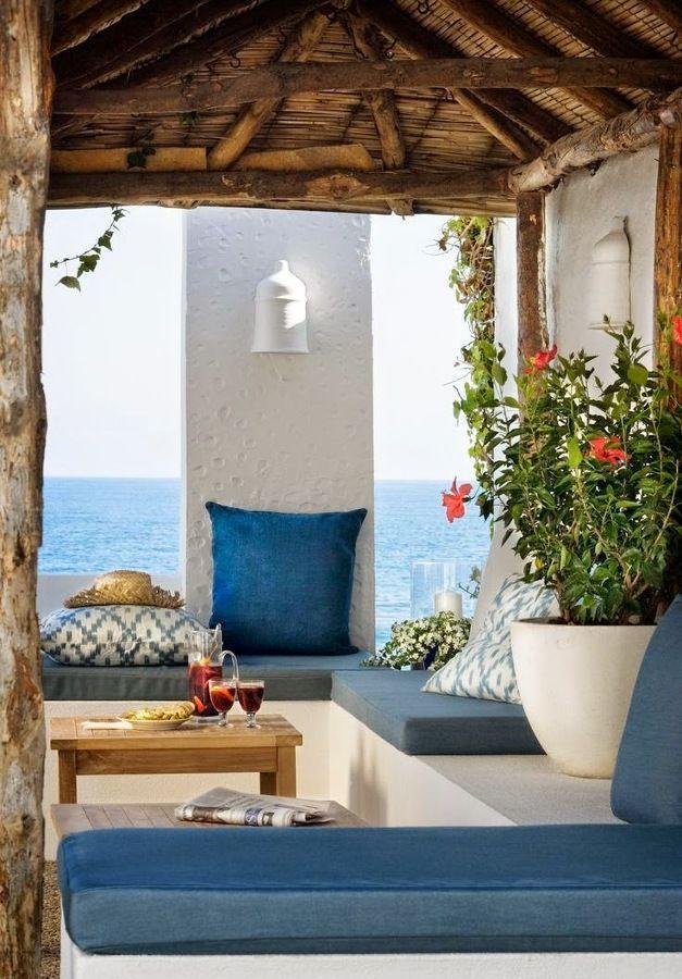 Terraza Estilo Ibicenco Casas De Playa Decoracion De Unas Casas Mediterraneas