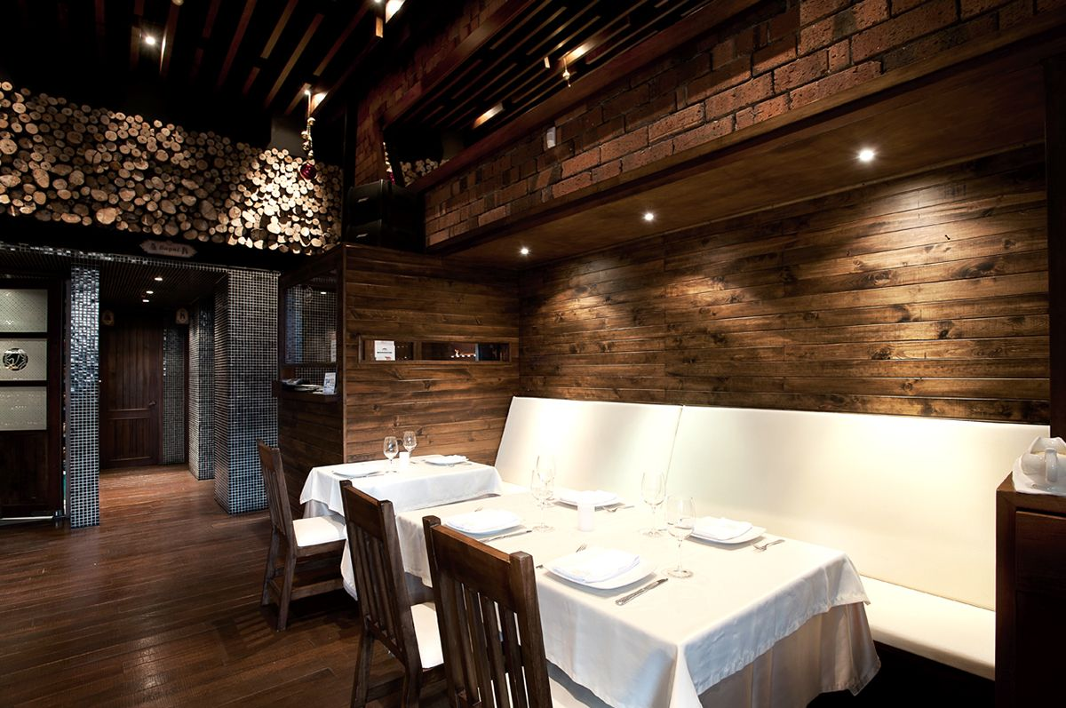 Tom\u0027s Urban 24 in Denver. Interior Design, Hanging Globe Lights ...