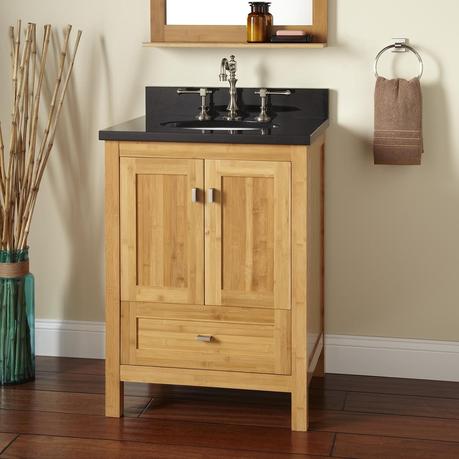 24 Alcott Bamboo Vanity For Undermount Sink Signature Hardware