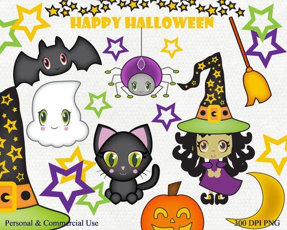 CUTE HALLOWEEN CLIPART Commercial Use Clip Art Bat by ClipArtBrat ...