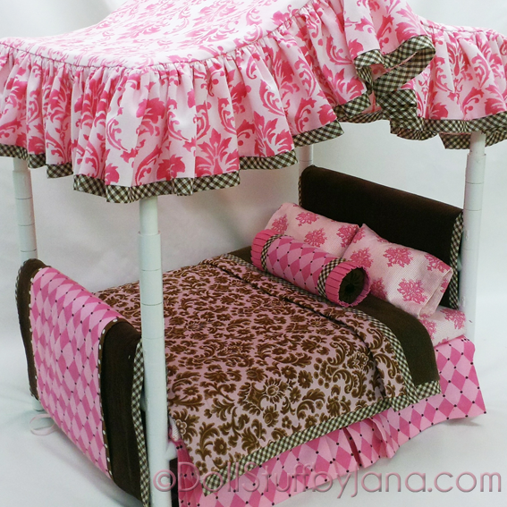 Pattern For A Canopy Bed For American Girl Dolls Made Out Of Pvc