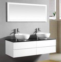 Arredo Bagno Topazio2 150 bianco lavabo d'appoggio OFFERTA