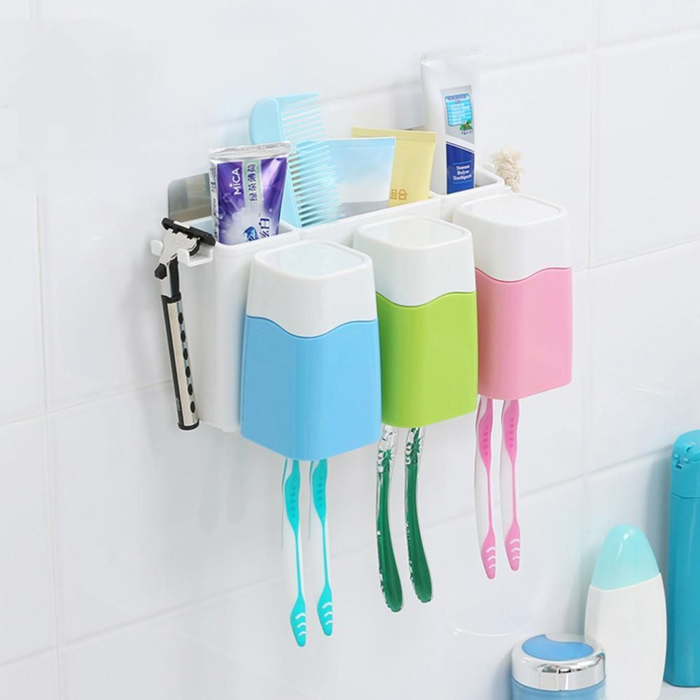 hot creative bathroom toothbrush holder cup set powerful wall rh pinterest com au