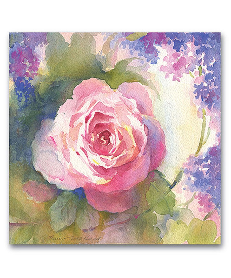 Love this Pink Watercolor Roses II Wrapped Canvas by Courtside Market on #zulily! #zulilyfinds