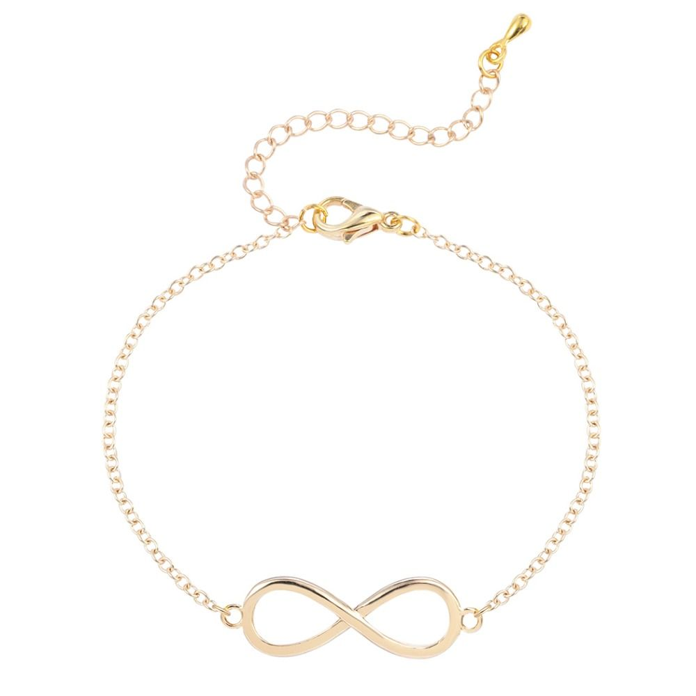 new gold silver infinity bracelet for women wedding bangles