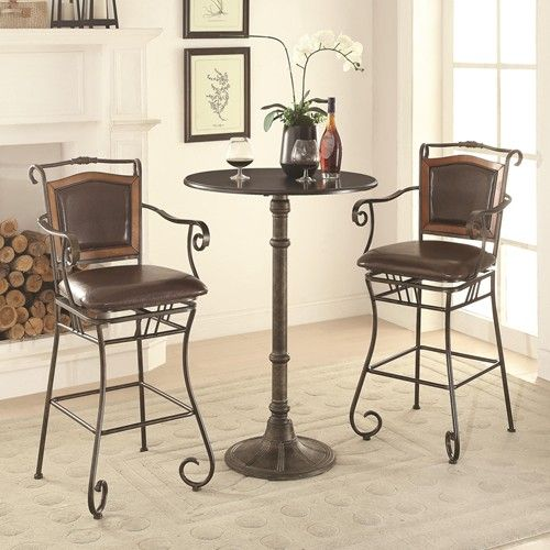 this metal bar table is perfect for small spaces it features a rh pinterest com