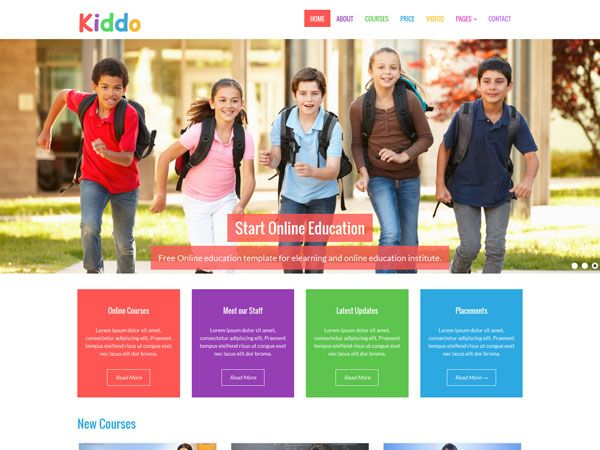 22 Free Education HTML Website Templates | TemplateMag | Education ...
