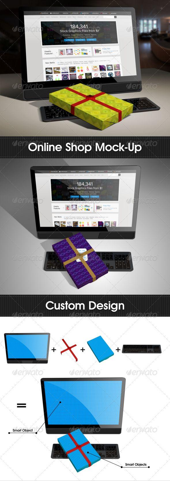 Online Shop Mock-Up  #GraphicRiver