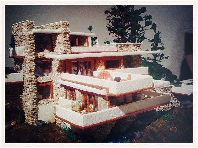 Fallingwater Gingerbread House by í r i s, via Flickr