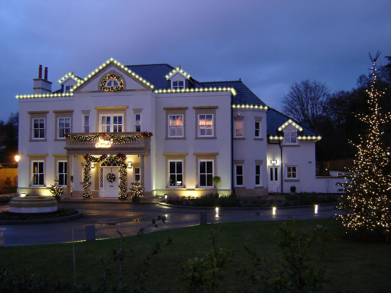 A beautiful house we lit up in