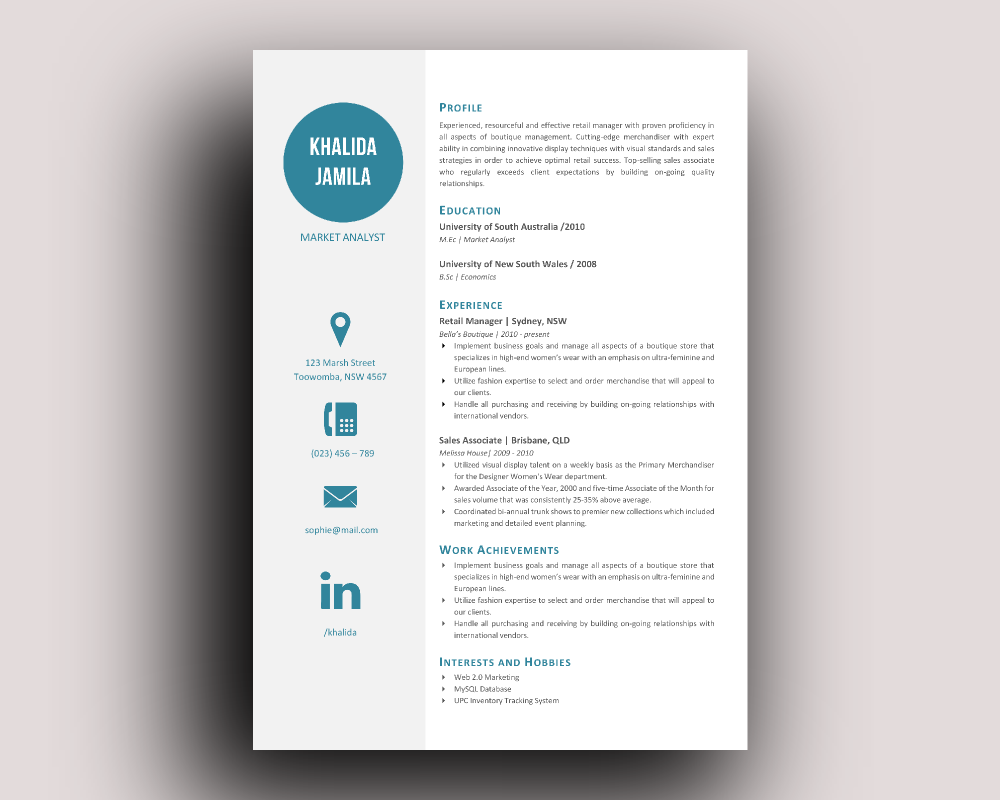 Resume Template Modern Big Icon Modern Resume Templateinkpower On Creativemarket